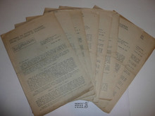 "1924 World Jamboree National BSA ""Letters to Patrol Leaders from Old-Timers in Scouting"", issues 1-8"