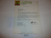 1973 National Jamboree Staff Assignment cover letter from Barber and Mockford #2