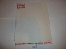 1964 National Jamboree Stationary, full sheet size