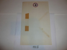 1957 National Jamboree Stationary, memo size with tape marks