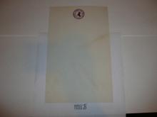 1957 National Jamboree Stationary, memo size