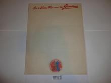 1950 National Jamboree Stationary, full sheet size