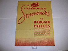 1937 National Jamboree Promotional Brochure for closeout prices on Jamboree items