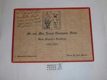 1932 Season's Greetings Card from Ernest Thompson Seton