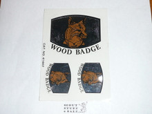 Wood Badge Fox Stickers
