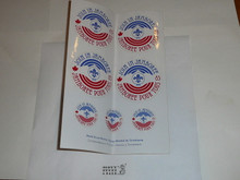 1983 World Jamboree Sheet of Stickers