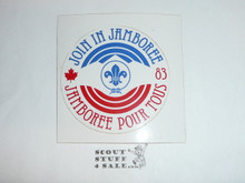 1983 World Jamboree Join in Jamboree Sticker