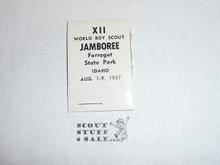 1967 World Jamboree sewing kit