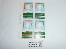 1967 World Jamboree set of 4 Jamboree Gummed Stamps