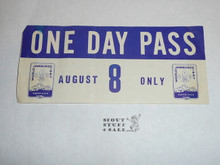 1967 World Jamboree One Day Pass for August 8