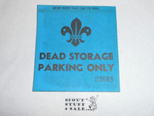 1967 World Jamboree Jamboree Dead Storage Vehicle Sticker