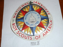 1935 National Jamboree Large Gummed Sticker