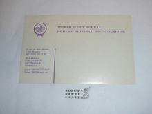 World Scout Bureau Gummed Shipping Label