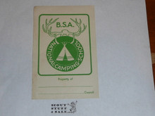 National Camping School Gummed Bookplate