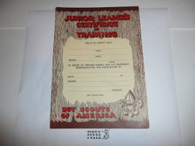 1965 Junior Leader's Certificate of Training, Blank