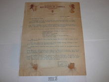 San Francisco Area Council Stationary, Nov 1938 letter, was in scrapbook #2