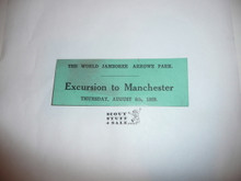 1929 World Jamboree Excursion to Manchester Ticket for August 8