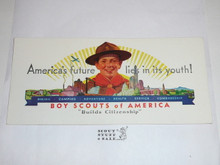 1970's Boy Scout Place Card Table Topper