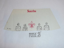"1970's Boy Scout ""Scouting…The Better Life"" Place Card Table Topper"