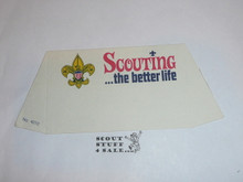 "1970's Boy Scout ""Scouting/USA"" Place Card Table Topper"