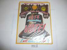 1960 Get out the Vote Boy Scout Door Hanger
