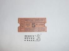 1950 National Jamboree Trading Post Ticket