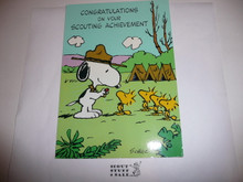 Peanuts Congratulations on Your Scouting Achievements Greeting Card, With Envelope