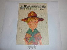 1970's Boy Scout Birthday Card by Gibson, with Envelope
