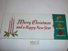 1960's Boy Scout Christmas Card, blank on the inside