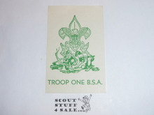 Troop One BSA Seal