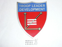 Troop Leader Development Shield Sticker