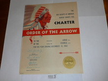 1968 Mikanakawa Lodge #101 Order of the Arrow Charter
