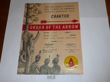 1960 Mikanakawa Lodge #101 Order of the Arrow Charter