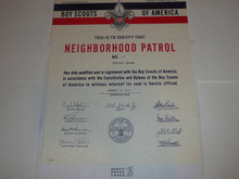1969 National Charter for a Neighborhood Patrol