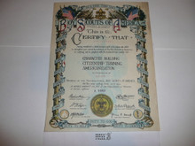 1921 Boy Scouts of America Association Member Certificate