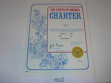 1985 Boy Scout Troop Charter, October
