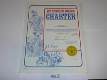 1983 Boy Scout Troop Charter, January
