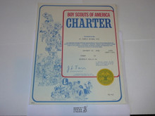 1982 Boy Scout Troop Charter, January