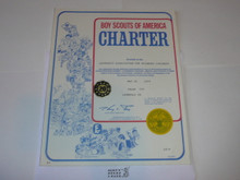 1979 Boy Scout Troop Charter, May, 20 year Veteran Troop