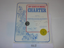 1978 Boy Scout Troop Charter, February, 60 year Veteran Troop