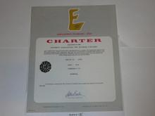 1976 Explorer Scout Post Charter, March, 10 year Veteran unit sticker