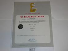 1975 Explorer Scout Post Charter, March, 10 year Veteran unit sticker