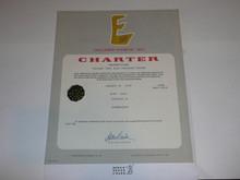 1975 Sea Scout Ship Charter, January, 35 year Veteran Ship Sticker