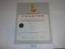 1974 Sea Scout Ship Charter, January, 35 year Veteran Ship Sticker