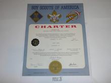 1971 Sea Scout Ship Charter, January, 35 year Veteran Ship Sticker