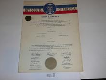 1964 Sea Scout Ship Charter, January, 25 year Veteran Ship Sticker