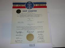 1965 Sea Scout Ship Charter, January, 25 year Veteran Ship Sticker