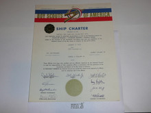1967 Sea Scout Ship Charter, January, 30 year Veteran Ship Sticker