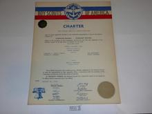 1954 Sea Scout Ship Charter, January, 15 year Veteran Ship Sticker