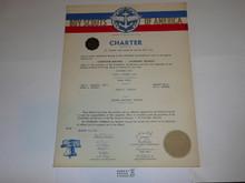 1953 Sea Scout Ship Charter, February, 5 year Veteran Ship Sticker